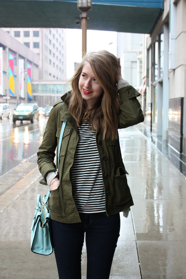chelsea+lane+truelane+zipped+blog+minneapolis+fashion+style+blogger+madewell+utility+jacket+gap+stripe+tee+kate+spade+saturday+mini+a+satchel+steel+blue+vans+leather+sk8+hi5