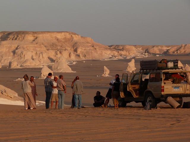 Campamento en el desierto blanco (Egipto)