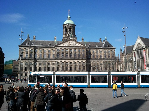 The Palace on the Dam, with a tram in front of it