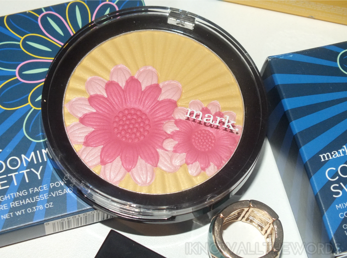 mark blooming pretty highlighting face powder