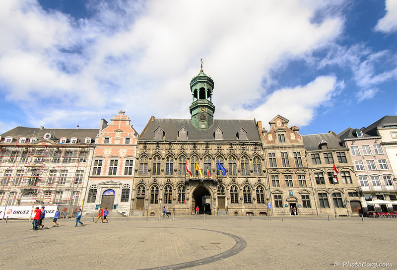 Town Hall in Grand Place in Mons, Belgium