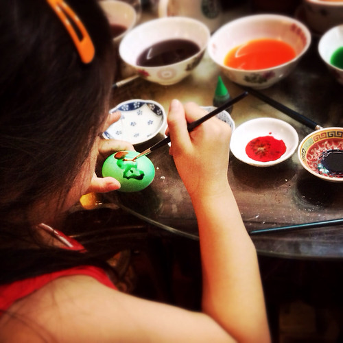 easter egg, painted, dye, handmade, homemade, kid project, hong kong, 手繪, 復活節, 彩蛋