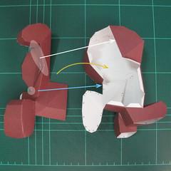 วิธีทำโมเดลกระดาษตุ้กตาคุกกี้รัน คุกกี้รสฮีโร่ (LINE Cookie Run Hero Cookie Papercraft Model) 025