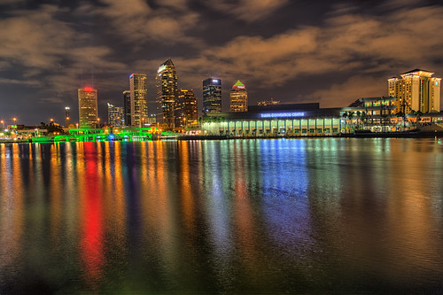 reflection skyline tampa effects florida beercan processing nik hdr riverwalk hillsboroughriver tampaconventioncenter photomatix lightsontampa sykesbuilding plattstreetbridge agualuces tampamarriottwatersidehotel rivergatebuilding