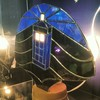 Stained glass TARDIS lamp in #workshop34