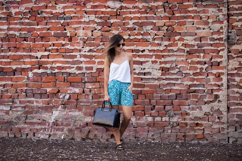 Outfit featuring Qamar Designs High waisted shorts