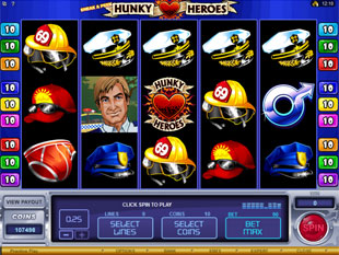 Sneak a Peek Hunky Heroes Slot Machine