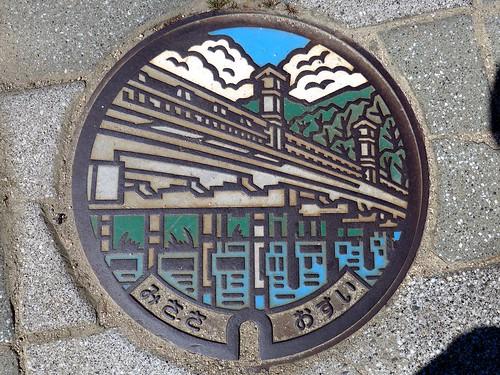 Misasa Tottori, manhole cover 3 (鳥取県三朝町のマンホール3)