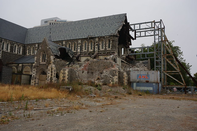 Christchurch cathedral earthquake damage