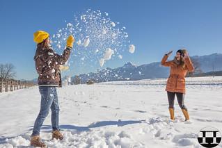 Tizi & Marina Having Fun In The Snow