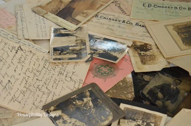 Antique letters/photos/documents