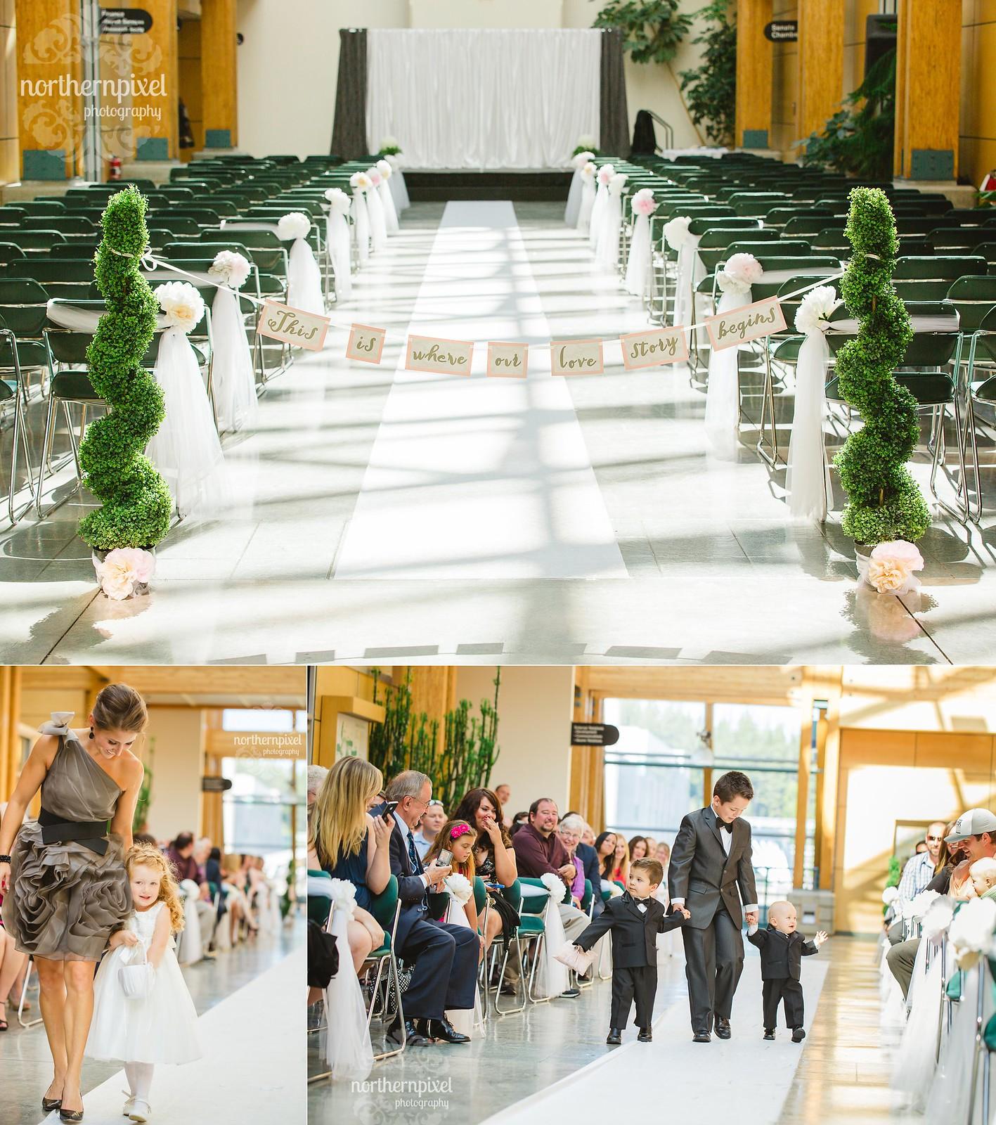 Kendra & Jarrett's Wedding at UNBC in Prince George