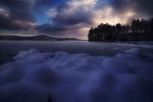 blue winter snow cold ice dawn massachusetts patrickzephyr sunrisequabbinreservoir