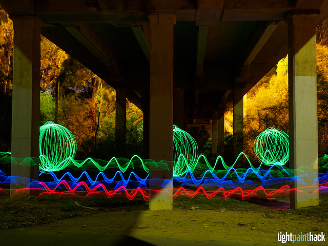 Orbs And Ribbons Under The Bridge