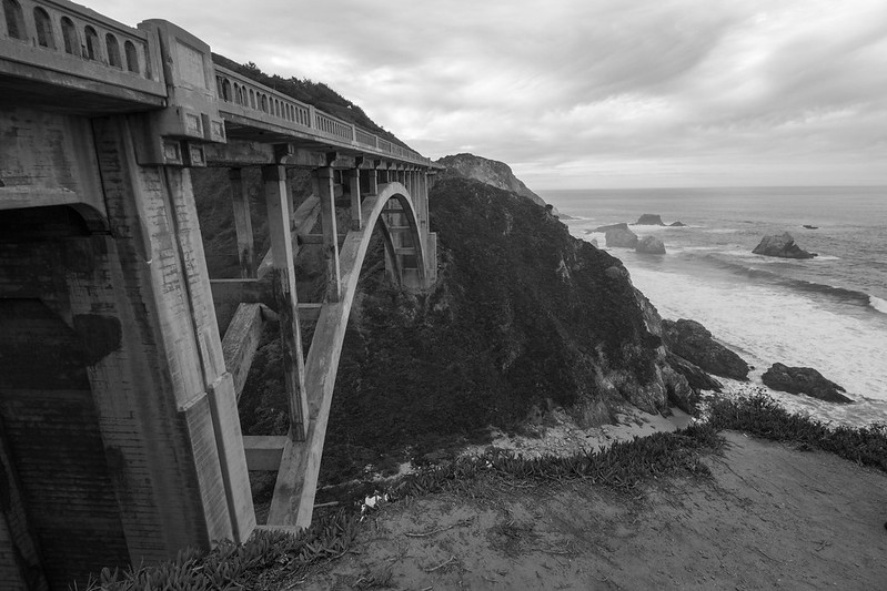 bridge, Big Sur, California