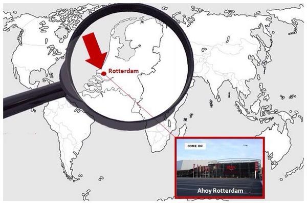 Ahoy Rotterdam op de kaart