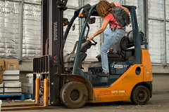 transport, forklift truck,