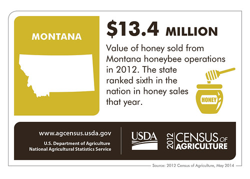 Big Sky Montana could be Big Sweet Montana. Check back next Thursday for another fascinating look at another state and the 2012 Census of Agriculture!