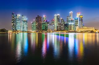 _MG_5556_web - Singapore Marina Bay skyscrapers reflection