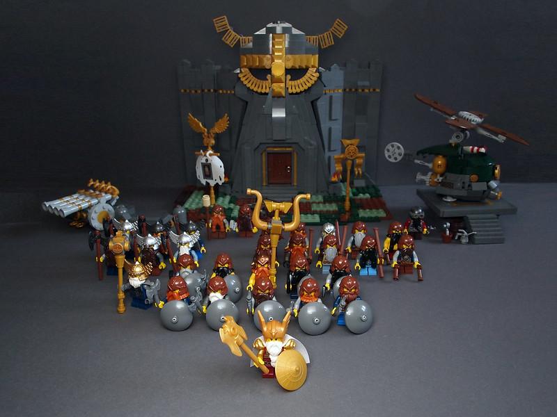 самоделка лего форт Dwarrish Gates