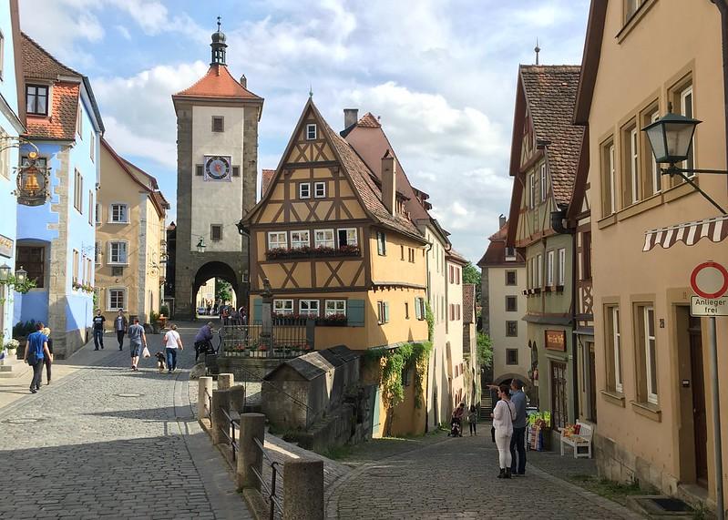 Postal típica de Rothenburg ob der Tauber, una de las etapas de la Ruta Romántica alemana