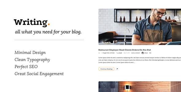 Writing v2.75 - Clean & Minimal Blog WordPress Theme
