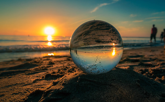 Cinematic Crystal Ball in the Sand
