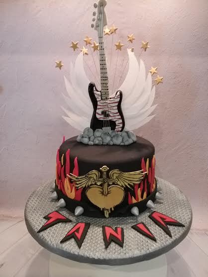 Rock Guitar Cake by Royal Cakes by Demi