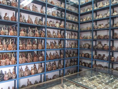 Le musée Rafael Larco: impressionnant stock de poteries dans un parfait état. Ce musée possède 45 000 oeuvres.