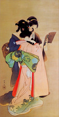 geisha(1.0), painting(1.0), costume design(1.0), woman(1.0), female(1.0), illustration(1.0), person(1.0),