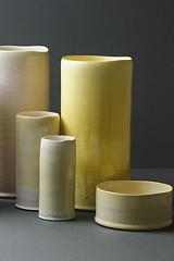 flameless candle, cylinder, ceramic,