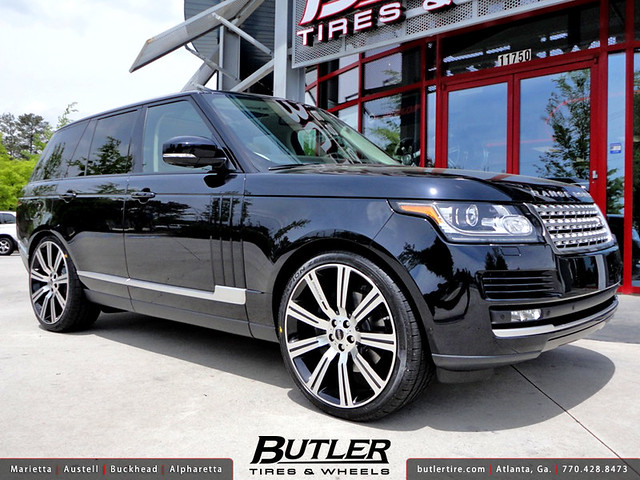 2013 range rover hse with 24in stormer wheels flickr. Black Bedroom Furniture Sets. Home Design Ideas