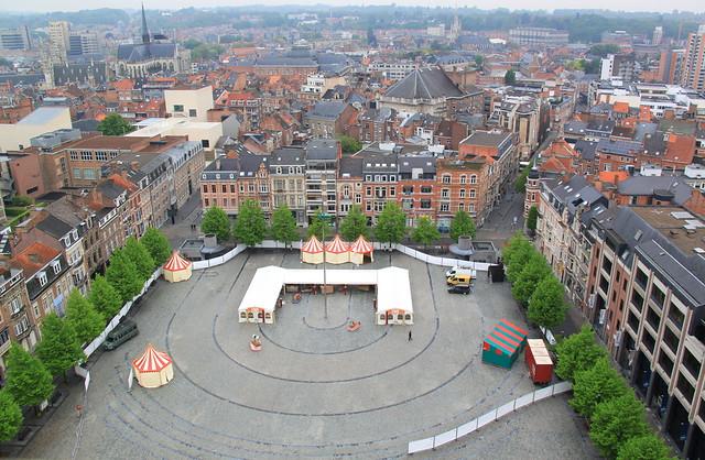 mooi zicht op het Ladeuzeplein - Leuven