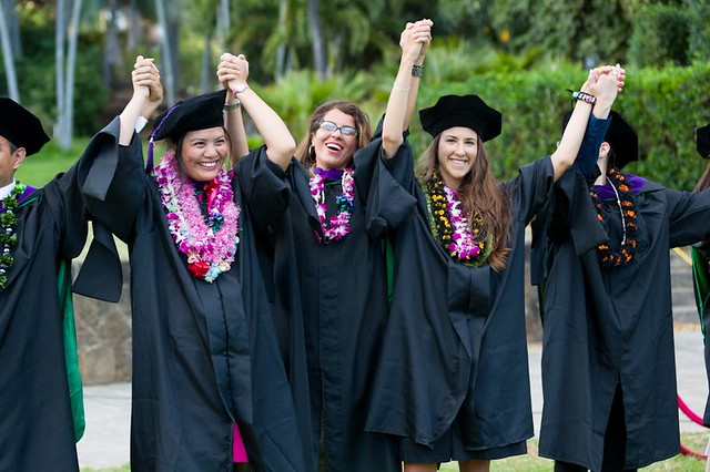 "<p>William S. Richardson School of Law graduates raise their arms in victory as they sing Hawaii Aloha at the end of the school's commencement ceremony. May 12, 2013. (Photos by Mike Orbito)<br /> <br /> For more photos go to the <a href=""https://picasaweb.google.com/lawschoolphotos/20130512ToastAndCommencement?authuser=0&authkey=Gv1sRgCLySgIWT2rmxKg&feat=directlink"" rel=""nofollow""> School of Law's Picasa album</a></p>"