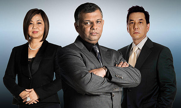The three judges for The Apprentice Asia