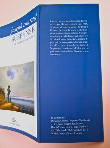 Joseph Conrad, Suspence. il canneto editore 2013. progetto grafico di Paroledavendere, Art Director: Camilla Salvago Raggi. Risvolto di copertina (part.), 1