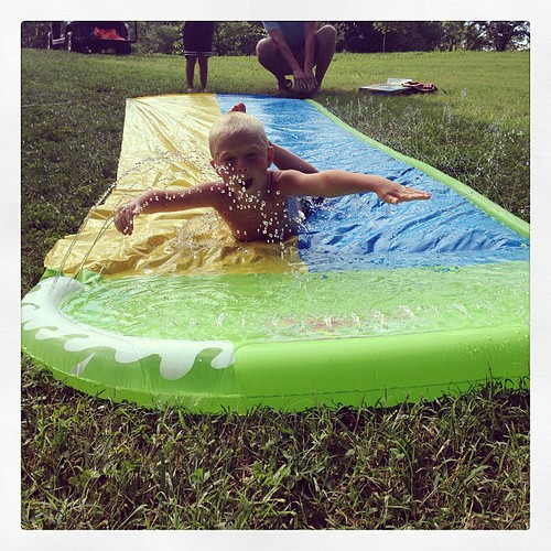 Slip and slide! #buffalojunction #summervacation