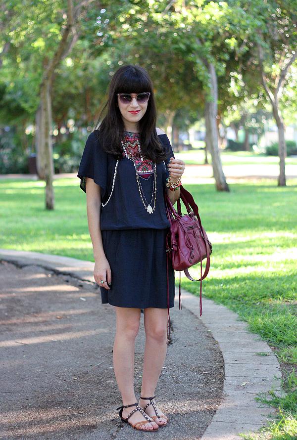 balenciaga bag, marc jacobs sunglasses, zara boho dress, studded sandals, בלוג אופנה, תיק בלנסיאגה, תיקי מעצבים, משקפי שמש מארק ג'ייקובס