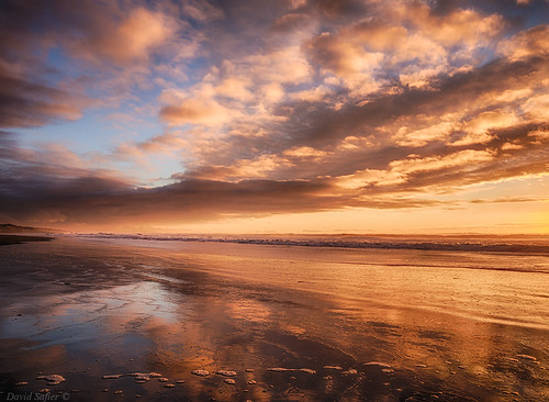 sunset reflection by David Safier - redwoodimage