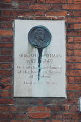 Photo of John Sell Cotman stone plaque