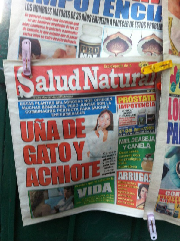 Overexposed Model in the papers in Peru.