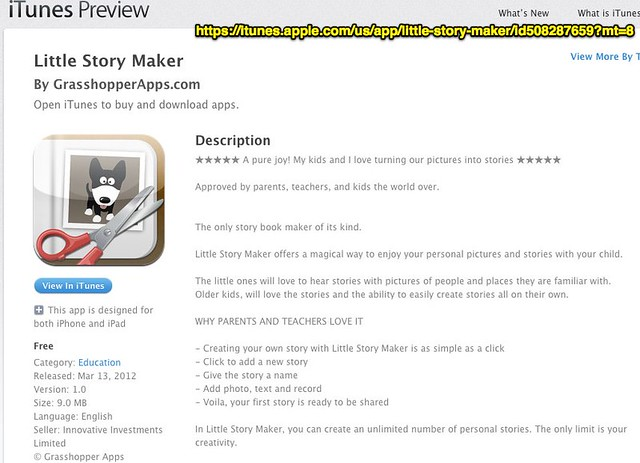 Little Story Maker for iPhone, iPod touch, and iPad on the iTunes App Store
