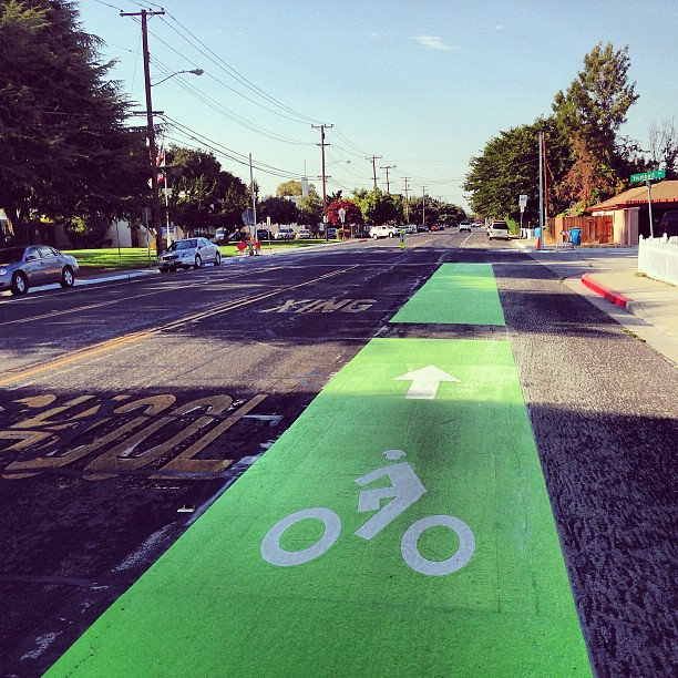New bike lane paint.