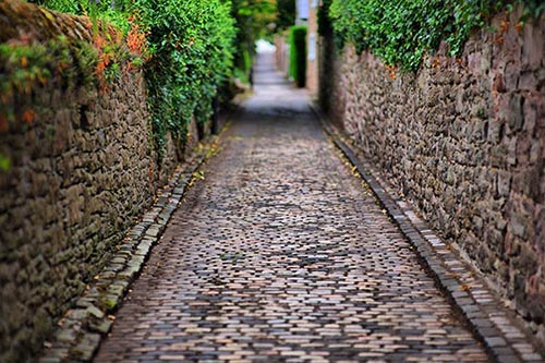 Traditional Cobbled Lane  - Dundee Scotland