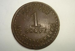 CROOKSHANKS Shave token obverse