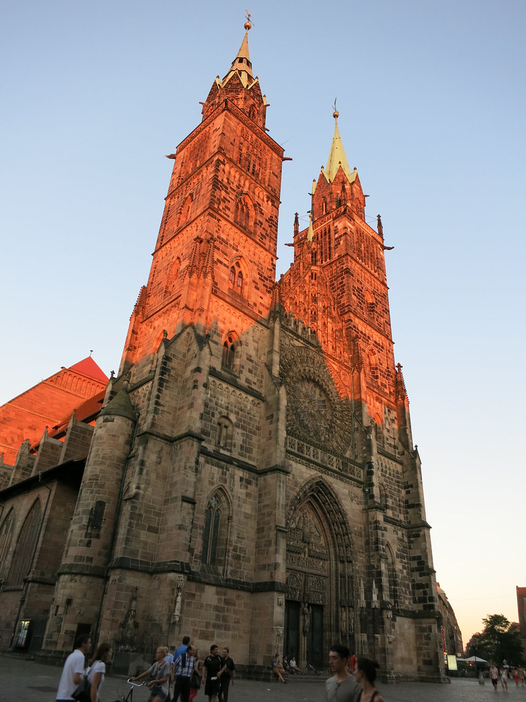 Nuremberg's Dom at sunset.