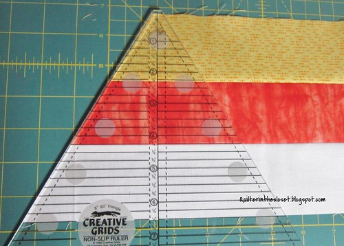 Candy corn tutorial 60 degree strip