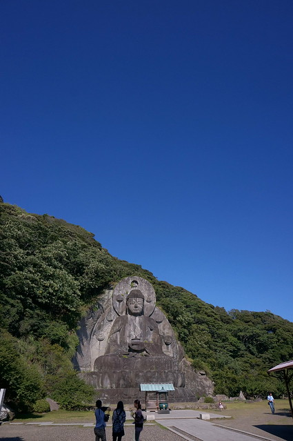 Blue sky and huge buddha