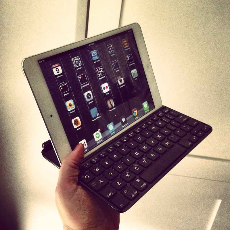 my new iPad mini with a magnetic keyboard cover