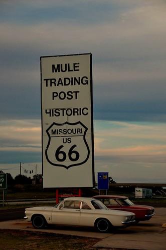sunset signs sign route66 missouri rolla i44 interstate44 2013 rollamo oldroute66 muletradingpost